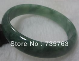 "Wholesale-xiuli 0044 NATURE GRADE ""A ""BEAUTIFUL GREEN JADE JADEITE BRACELET GREEN BANGLE 56MM cheap grade jadeite bangle from grade jadeite bangle suppliers"