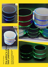 BeatBox speakers online shopping - NEW S09 LED Light Ring Enhanced speaker Super Bass Metal Mini Portable BeatBox Hi Fi Bluetooth Handfree Mic Stereo Speakers