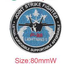 $enCountryForm.capitalKeyWord NZ - F35 lightning-11 joint strike fighter logo embroidery patch varielty flag cool badges special patch computer embroidery badge iron on cloth
