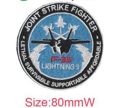 Großhandel F35 Lightning-11 Joint Strike Fighter Logo Stickerei Patch Varielty Flagge cool Abzeichen spezielle Patch Computer Stickerei Abzeichen Eisen auf Tuch