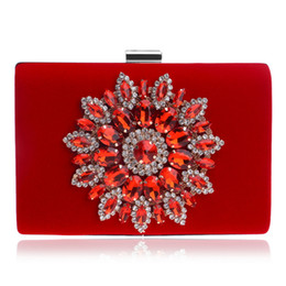 Evening Lady Handbag Wallet Purse NZ - New Chinese Style Single Side Sun Diamond Crystal Evening Bag Clutch Bag Lady Shoulder bag With Chain Bridal Rhinestone Handbag Wallet Purse