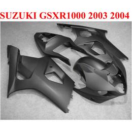 Motobike Kits Australia - ABS motobike set for SUZUKI GSXR 1000 K3 k4 2003 2004 fairing kit GSXR1000 03 04 all matte black custom fairings CQ91