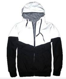 Chinese  New Autumn spring 3M Hiphop Jacket Reflective Jacket Thin black Windbreaker Men women Trench Coat jacket manufacturers