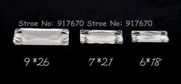 224pcs 9x27mm Rettangolo Bling Flatback Cuce sul pulsante di strass di cristallo di pietra con 2 fori Decorazione di nozze