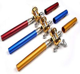Vente en gros Pen forme Portable de poche en alliage d'aluminium de pêche Spinning tige télescopique Mini pôle poisson