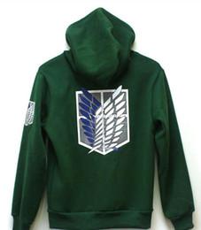 Scouting legion hoodie online shopping - Fashion Winter Hoodies Men Sportwear Anime Capucha Styles Overcoat Attack on Titan Cosplay Scouting Legion Hoodie Jacket