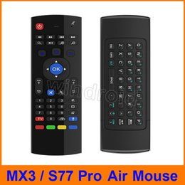 android mx box Australia - S77 pro 2.4Ghz Wireless MX3 Mini QWERTY Keyboard with Mic Voice IR Learning Mode Fly Air Mouse Remote Control MX for PC Android TV Box IPTV