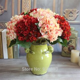 $enCountryForm.capitalKeyWord Canada - Free Shipping 2015 Artificial Hydrangea flowers Hand bouquet Real Touch Silk 14 colors Home Table decorative for Birthday wedding party