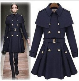 Discount Long Pea Coat Women | 2017 Long Wool Pea Coat Women on ...