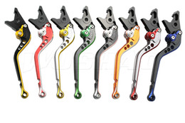 Braking Levers NZ - Double Color Motorcycle Adjustable Long Brake Clutch Levers For 2008-2012 Honda ST1300 ST 1300 08 09 10 11 12 2009 2010 2011