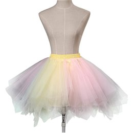 Blue red petticoat online shopping - Vintage Mini Multi layer Ruffle s Rock Roll Petticoat Rockabilly Short Tutu Ballet Underskirts Half Slip Cosplay Costume Skirt