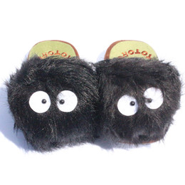 tv slippers UK - My Neighbour Totoro slippers Cosplay Plush Doll 11 inch dusty bunny slippers red heros Adult Slipper