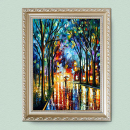 $enCountryForm.capitalKeyWord Canada - 100% hand painted oil canvas landscape of high quality thick knife painting home decoration arts JL180