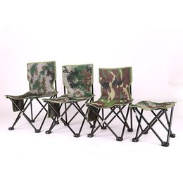 New Outdoor Fishing Folding Chair Portable Metal Four Corner Fishing Stool  Fishing Accessories Camouflage Folding Chairs For Sale Outdoor Metal Folding  ...