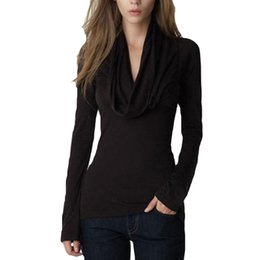 $enCountryForm.capitalKeyWord UK - Hot 2016 New Sexy Women Ladies Tshirts Solid Simple Long sleeved Slim T shirt Women Tops Tee Gray Black S-2XL camiseta feminina