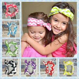 knotting hair 2019 - mix color Fabric Head wrap Top Knot Rabbit ears Headband for Girl Hair Accessories Fashion Hairband Headwear 10pcs lot c