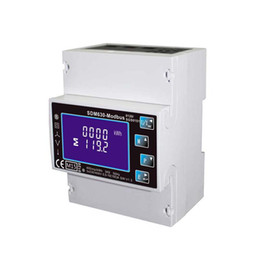 $enCountryForm.capitalKeyWord UK - Freeshipping Single Three Phase Multi Function Din Rail Digital Energy Meter , Kwh Electricity Meter With RS485 Modbus Output SDM630 Modbus