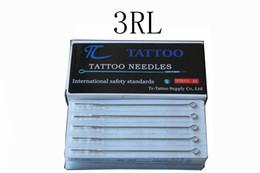 Venta al por mayor de Alta calidad convenientemente nueva 50PCS 3RL profesional tatuaje máquina acero inoxidable estéril aguja desechable tatuaje