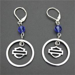 Stainless Steel Motors Canada - 3pairs lot biker style hot selling earrings 316l stainless steel fashion jewelry motor biker popular design crystal earrings