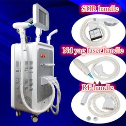 Barato Ipl Rf Nd Yag-SHR IPL laer máquina de depilação e-light <b>ipl rf nd yag</b> laser tattoo removal multifunction machine