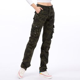 166e983247d Cargo pants for women plus size camouflage straight pants new fashion  cotton blend autumn spring high waist trousers wlk0702