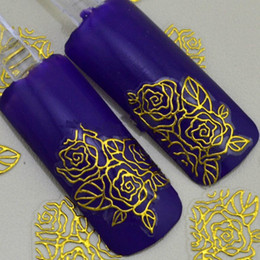 Metal Stamp Gold Canada - 3D gold Decal Stickers Nail Art Tip DIY Decoration stamping Manicure