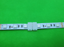 Venta al por mayor-5pcs / lot, conectores de tira de 4 pines LED, conexión de cable de placa PCB de 10 mm para tira de color RGB 5050