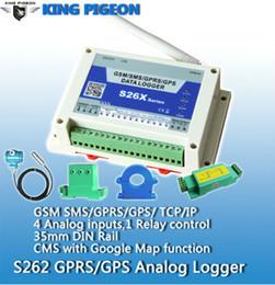 Remote Data Canada - Wireless data logger gsm temperature monitoring remote temperature humidity analog data logger S262(4AIN+1DOUT) Free shipping
