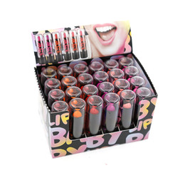 $enCountryForm.capitalKeyWord UK - Lipsticks Makeup 24PCS 6 Color Red Pink Colored Lipstick Lip Stick Net 2.3g
