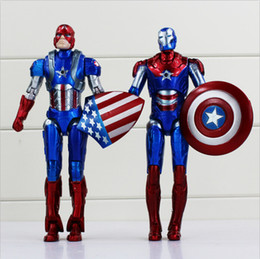 cool new toys for kids 2019 - 2 Styles Captain American Super Hero PVC the Avengers figure cool modle for Kids Toy New High Quality