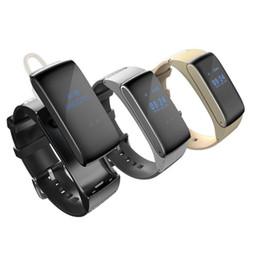 Digital Wrist Gps Canada - DF22 2-in-1 Headset Earphone Bluetooth Smartwatch HiFi Sound Headset Digital Wrist Calories Pedometer Track Fitness Sleep Moni for Android
