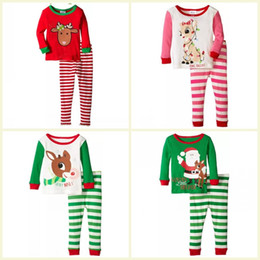 Christmas Suits For Kids NZ - Kids Girls Christmas Pajamas Set Baby Girls Clothing Set Children Boys Sleepwear Baby Pijamas Suit For Baby Boy
