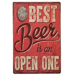 $enCountryForm.capitalKeyWord UK - The best beer is an open one Vintage Home Decor Retro Tin Sign Rustic Metal Plaque Cool Metal Plate Metal Poster