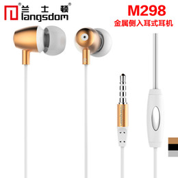 $enCountryForm.capitalKeyWord Canada - Langsdom M298 Luxury Metal 3.5mm In-Ear Stereo Earphones Earbuds Subwoofer Super Bass Headset Handsfree With Mic for mobile Phone