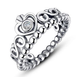 Girls silver jewelry online shopping - Women Silver Rings Crown Silver Jewelry Silver Fits For Pandora Style For Ladies Girl Brand Rings