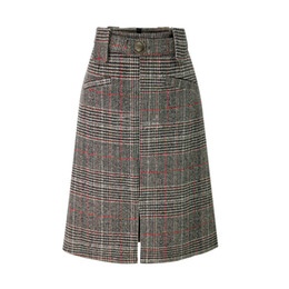 6633f01695b7a Wholesale Europe And America Ladies New Skirts Autumn Winter Short Check Skirt  High-end For Women M-XL Size Slim Fashion