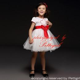 d79e5514a Pettigirl 2016 Niñas Vestidos de fiesta más nuevos del diseñador Blanco con corazón  rojo y Arcos y Tul Niños Princesa Vestidos Ropa de los niños GD40418-2