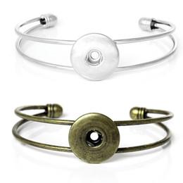 $enCountryForm.capitalKeyWord Canada - Wholesale Noosa Chunk Snap Button Bracelet Silver Antique Bronze Metal Alloy Bracelet Press Stud Ginger Snaps Women Jewelry New Arrival