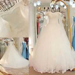 modern wedding gowns long tail 2019 - 2017 Luxury High-grade Fashion Crystal Beading Lace Wedding Dress Custom Bride Princess Embroidery Bateau A-line Long Ta