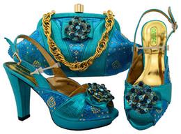 $enCountryForm.capitalKeyWord Canada - Nice looking blue lady pumps with rhinestone and big crystal african shoes match handbag set for dress MM1052,heel 11CM