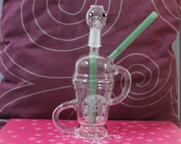 Dabuccino Recycler Bongs Canada - Limited Edition Dabuccino dab sandblasted 14.5mm Dabuccino Recycler Glass similar with Hitman Glass x Evol Glass Sand Blast Glass Bongs 2015