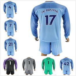 edcb1603f9e ... 2017-18 Long Sleeve Man City soccer Jersey 17-18 Man City Goalkeeper  Jersey ...