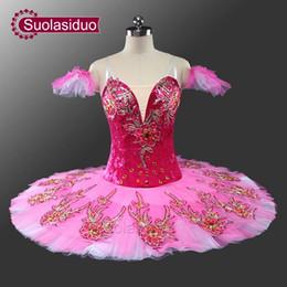Wholesale sugar adult for sale – custom Sugar Plum Red Violet Professional Ballet Tutu Adult Tutu Ballet Professional Girls Classical Ballet Tutu Pink for Kids SD0051