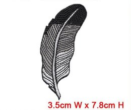 $enCountryForm.capitalKeyWord Canada - fashion feather patch wholesale free shipping iron on or sew on any garment hat bag computer embroidery factory