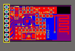 Modules Design NZ - 2.4GHz wireless module NRF24L01 module pcb file 24L01 PCB design file Free Shipping
