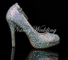 $enCountryForm.capitalKeyWord Canada - AB Rhinestone Pump -Wedding Shoes Bridal Heels Shoes, Luxury Closed Toes Bridal Heels Nightclub Dancing Shoes Party Prom Shoes Ankle Straps