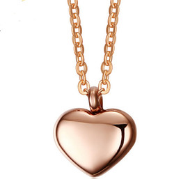 Discount necklace gold designs for women Brand New Rose Gold Heart For Love design Necklace Pendant stainless steel Women fashion Girlfriend wife Romantic Jewelr