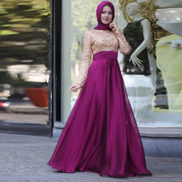 Long dresses with scarves
