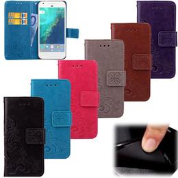pixel pocket 2018 - Flower print skin Flip wallet leather case Stand cover card holder cases For Google Nexus 6 6P 5 5X Pixel 2 XL 5pcs disc