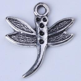 Dragonfly Pendant Charm Bracelet Canada - New fashion silver copper retro Dragonfly accessories DIY jewelry pendant fit Necklace or Bracelets charm 800pcs lot 1380c